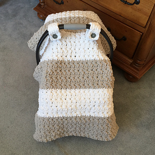 Ravelry Chunky Star Stitch Car Seat Canopy Cover Pattern