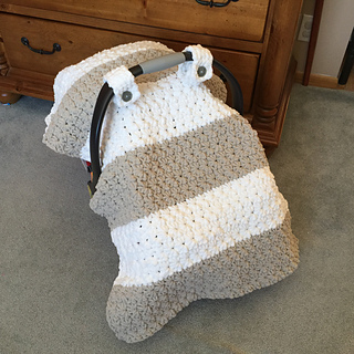Chunky Star Stitch Car Seat Canopy Cover Pattern By Ravelry