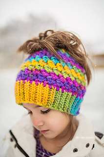 Ravelry  Kaycee Ponytail or Bun Beanie Hat pattern by Crochet by ... 78c7283972d