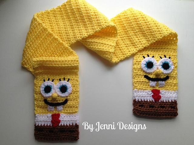 Ravelry Spongebob Squarepants Inspired Scarf Pattern By Jenni Catavu