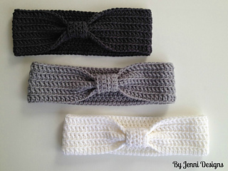 Ravelry Crochet Bow Ear Warmer Headband Pattern By Jenni Catavu