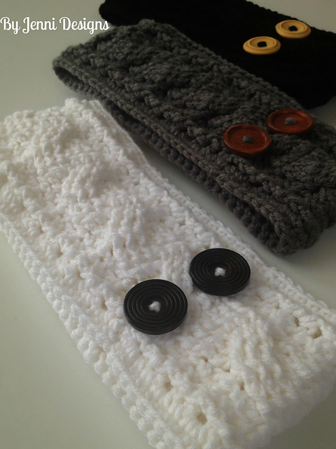 Ravelry Cable Ear Warmer Pattern By Jenni Catavu