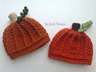 Ravelry Newborn Pumpkin Beanie Pattern By Jenni Catavu