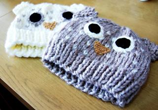 509bb5f1d95 Ravelry  Adult Owl Hat pattern by Jenny Riley