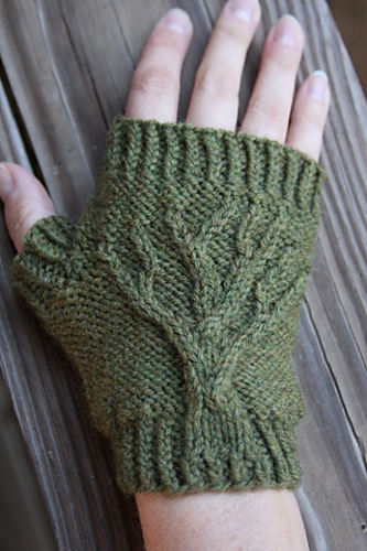 Ravelry: Tree of Life Fingerless Gloves pattern by Jenny Williams