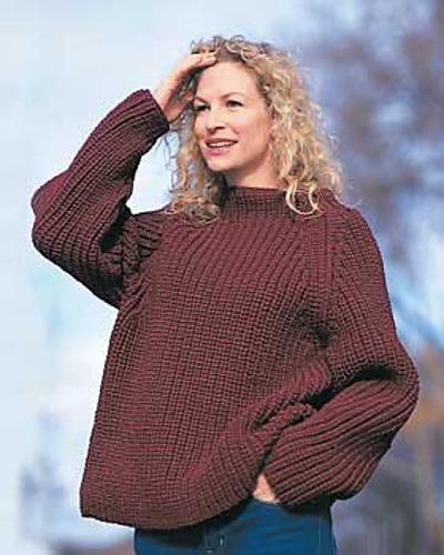 Ravelry: Shaker Rib Sweater pattern by Bernat Design Studio