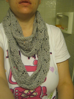 Ravelry Infinitely Simple Lace Infinity Scarf Pattern By Jessica Cook