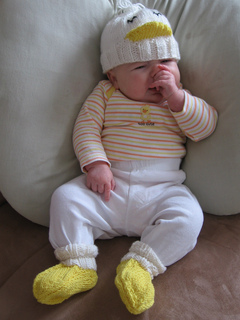 9b39db74d Ravelry: Baby Duck Hat and Booties pattern by Jessica Angus