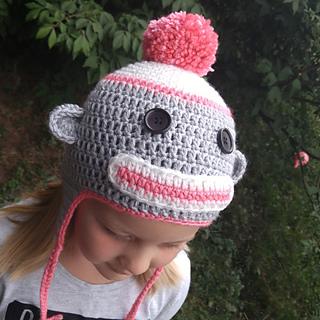 49db3e59ea1 Ravelry  Sock Monkey Hat pattern by Jessica Doucette