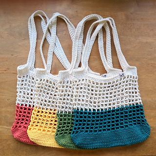Ravelry Color Block Market Bag Pattern By Jenn Palmer