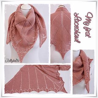 Ravelry My First Lace Shawl Pattern By Jolanda Schneider