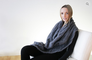 aae9651ca2e9e9 Ravelry  Mohair Cable Poncho pattern by Jo Sharp