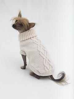 Ravelry: Prep Dog Sweater pattern by Lion Brand Yarn