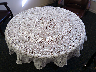 Ravelry Engagement Round Tablecloth Pattern By Elizabeth Hiddleson