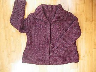 203a44d33 Ravelry  Tweedy Aran Cardigan pattern by Norah Gaughan