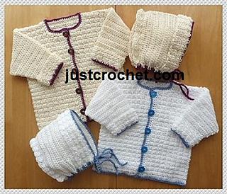 72b5c9b8cb76 Ravelry  Baby crochet pattern JC148B pattern by Justcrochet Designs