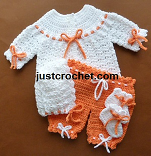 c23c76847b0b Ravelry  Baby boy or girl sweater set pattern by Justcrochet Designs