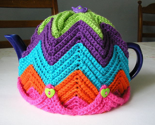 Ravelry Easy Ripple Tea Cosy Pattern By Jenny Stacey