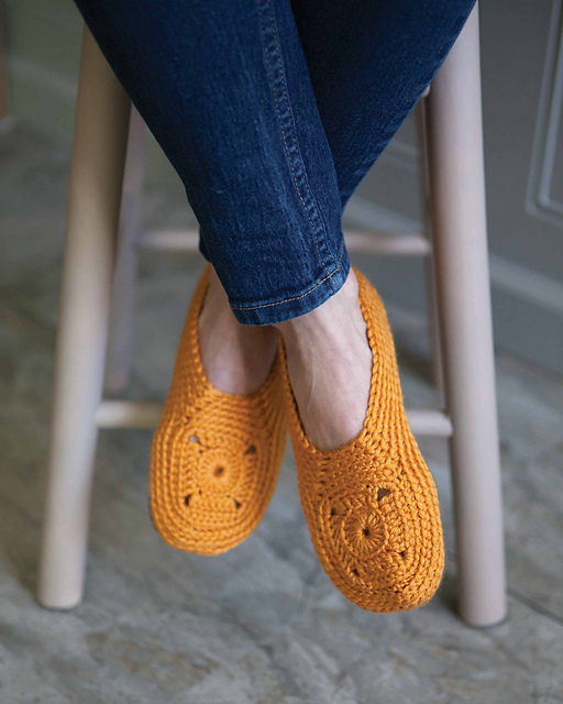 bf3e1198fba5 Ravelry  Sweet Granny Square Slippers pattern by Melissa Thibault