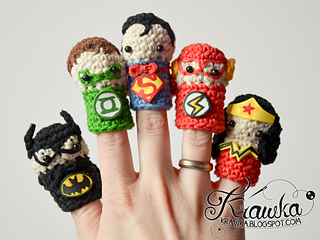 aa910cf98d5 Ravelry  Superheroes finger puppets set pattern by Kamila Krawka ...