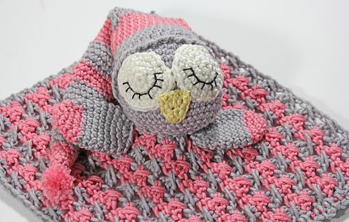 Ravelry Sleepy The Owl Security Blanket Pattern By
