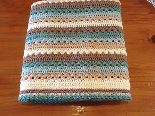 Cosy Stripe Blanket Pattern By Lucy Of Attic24 Ravelry