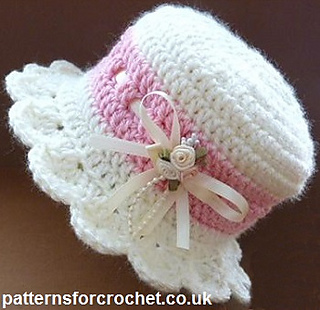 Ravelry  PFC 102 Brimmed Baby Hat pattern by Patternsfor Designs bd58099d2d9