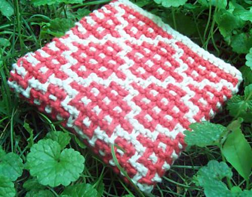 Ravelry Checker Square Garter Dishcloth Pattern By Kayla Pins