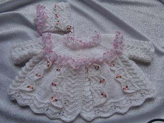 1de2daed4e3a Ravelry  lace and bows coat   bonnet pattern by karen nellsbabyknits