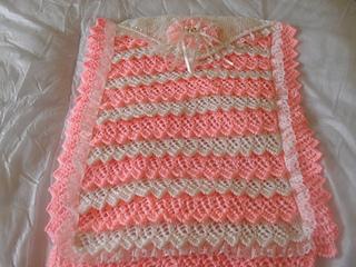62d4f2831602 Ravelry  layers of lace pram blanket pattern by karen nellsbabyknits