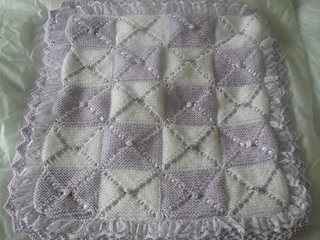 88eeb85ec197 Ravelry  double layer pram blanket pattern by karen nellsbabyknits