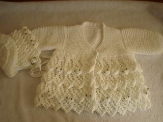 8421549b41c0 Ravelry  layers of lace coat baby or reborn knitting pattern pattern ...