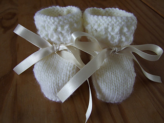 Ravelry Lacey Baby Booties Pattern By Karena Conran