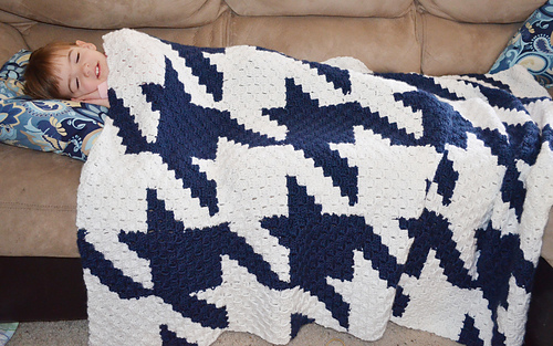 Ravelry Large Houndstooth Crochet Throw Pattern By Kendra Lusty