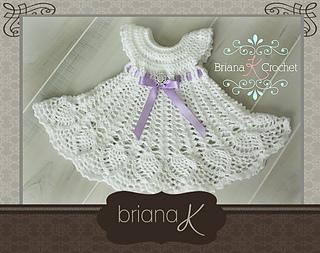 Ravelry Newborn Sophia Heirloom Dress Pattern By Briana K Designs