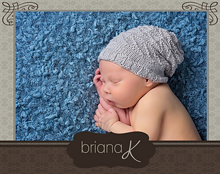 576c0053597 Ravelry  Newborn Knit Slouchy Hat pattern by Briana K Designs