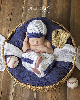 1b379e58bfb27d Ravelry: Newborn Baseball Outfit pattern by Briana K Designs