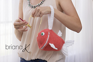 Fish Wristlet Yarn Holder Bag pattern by Briana K Designs