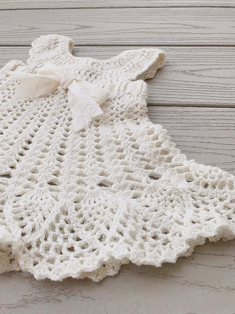 Ravelry: Newborn Sophia Heirloom Dress pattern by Briana K Designs