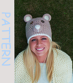 1aac1c2cb4f Ravelry  crochet hat   Brown bear  pattern by Kerry Jayne Designs