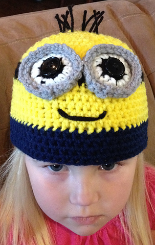 Ravelry: Child\'s Minion Hat pattern by Katerina Cohee