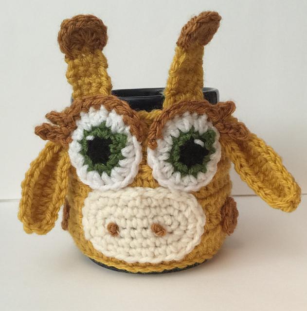 Ravelry Giraffe Coffee Tea Mug Cup Cozy Pattern By Katerina Cohee