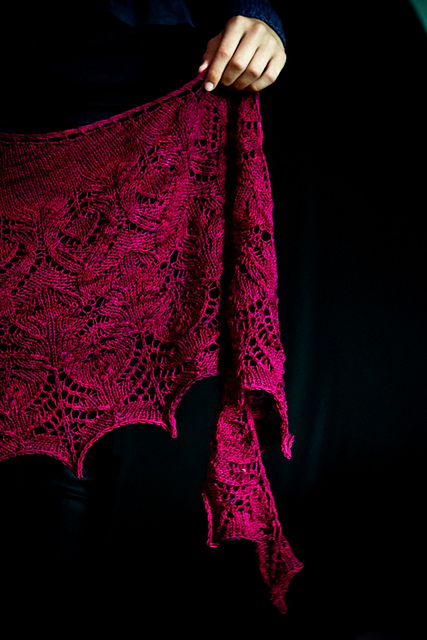 Mad Blood shawl pattern by Mary-Anne Mace