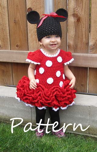 Ravelry Minnie Mouse Dress And Ears Pattern By Julie Robertson