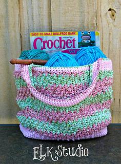 56f45257fc7 Ravelry  Honeysuckle Summer Bag pattern by Kathy Lashley