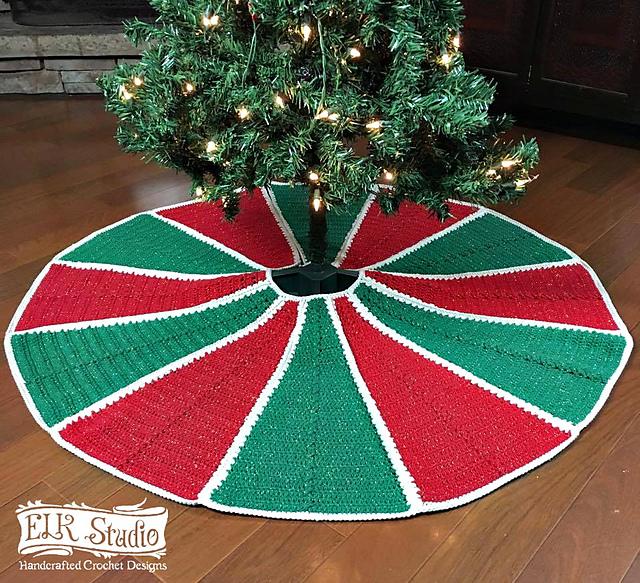 Christmas Tree Skirt Images Part - 38: Ravelry: Emoryu0027s Christmas Tree Skirt Pattern By Kathy Lashley