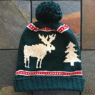Ravelry  Christmas Moose Hat pattern by Kristi MacCready b405306595b