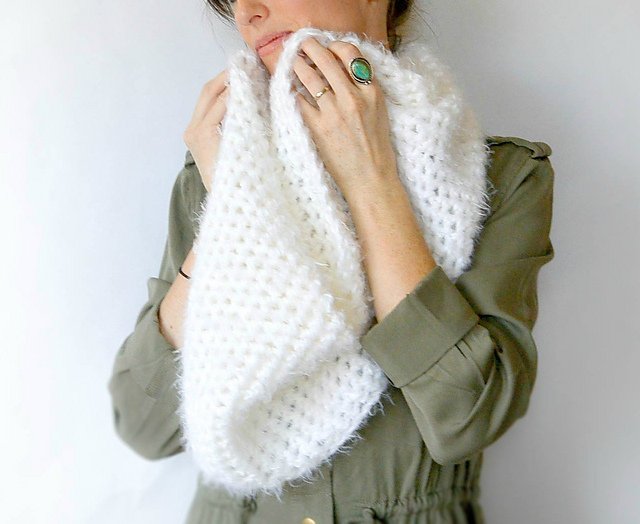 Ravelry: Powdered Sugar Crochet Infinity Scarf pattern by Jessica ...