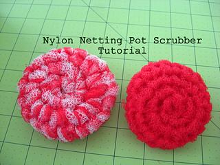 Ravelry Crochet Pot Scrubber From Nylon Netting Pattern By Kari Mcnew