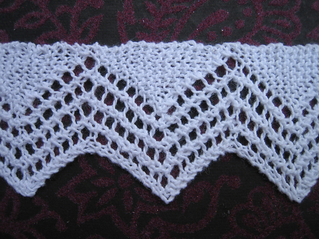 Ravelry Knitted Lace Edgings Vandyke Border Pattern By George S